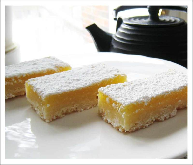Delicious zippy lemon squares