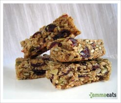 Chewy Cranberry Granola Bars