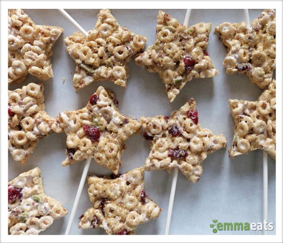Cheerios Cranberry and Granola Magic Stars [Dairy-Free] | EmmaEats