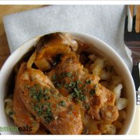 Hickety pickety, my paprikash hen...Chicken and Mushroom Paprikash