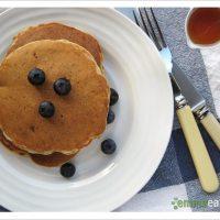 Pretend like it's the weekend. Now. - Whole Wheat Banana Flax Pancakes