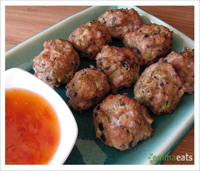 Baked Chicken and Veggie Meatballs