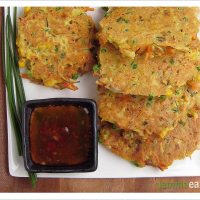 Remind Me - Mixed Vegetable and Bacon Pancakes