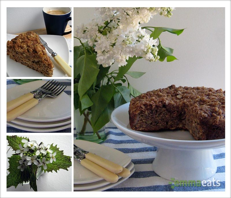 Whole Wheat and Spelt Banana Coconut Crumble Cake