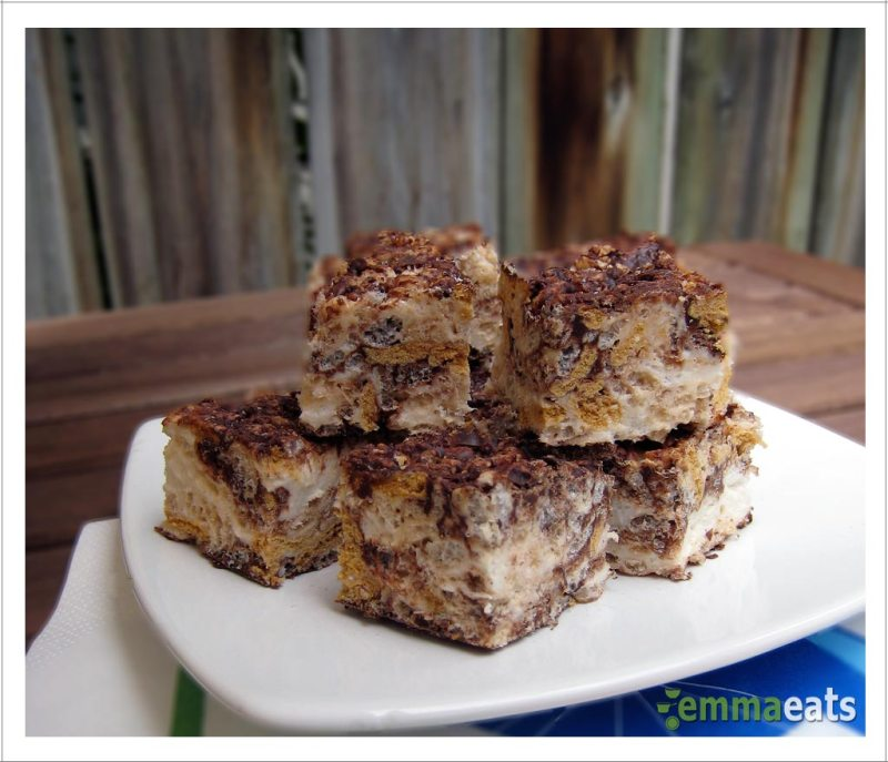 S'mores Rice Krispies Squares