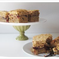 Let them eat cake -- Spelt Crumb Cake with Fruit Swirl