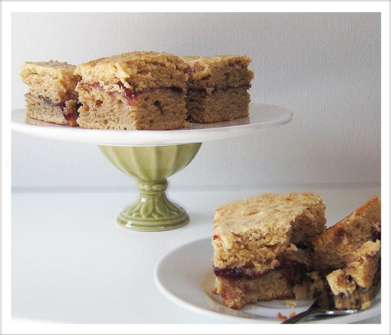 Spelt Crumb Cake with Fruit Swirl