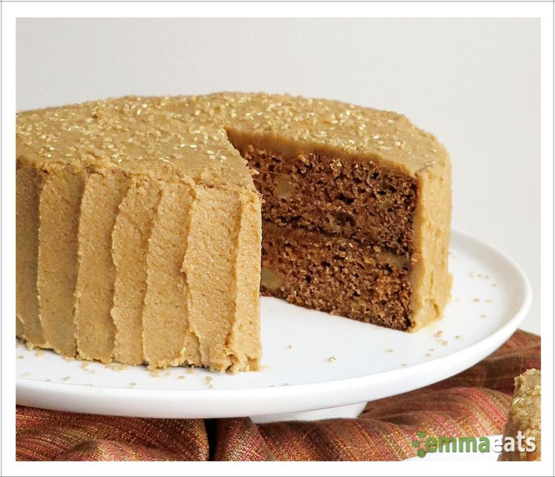 Apple Spice Layer Cake with Brown Sugar Cinnamon Frosting