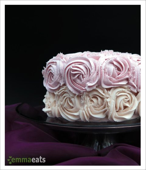 Vanilla Buttermilk Cake with Rose Ombre Frosting