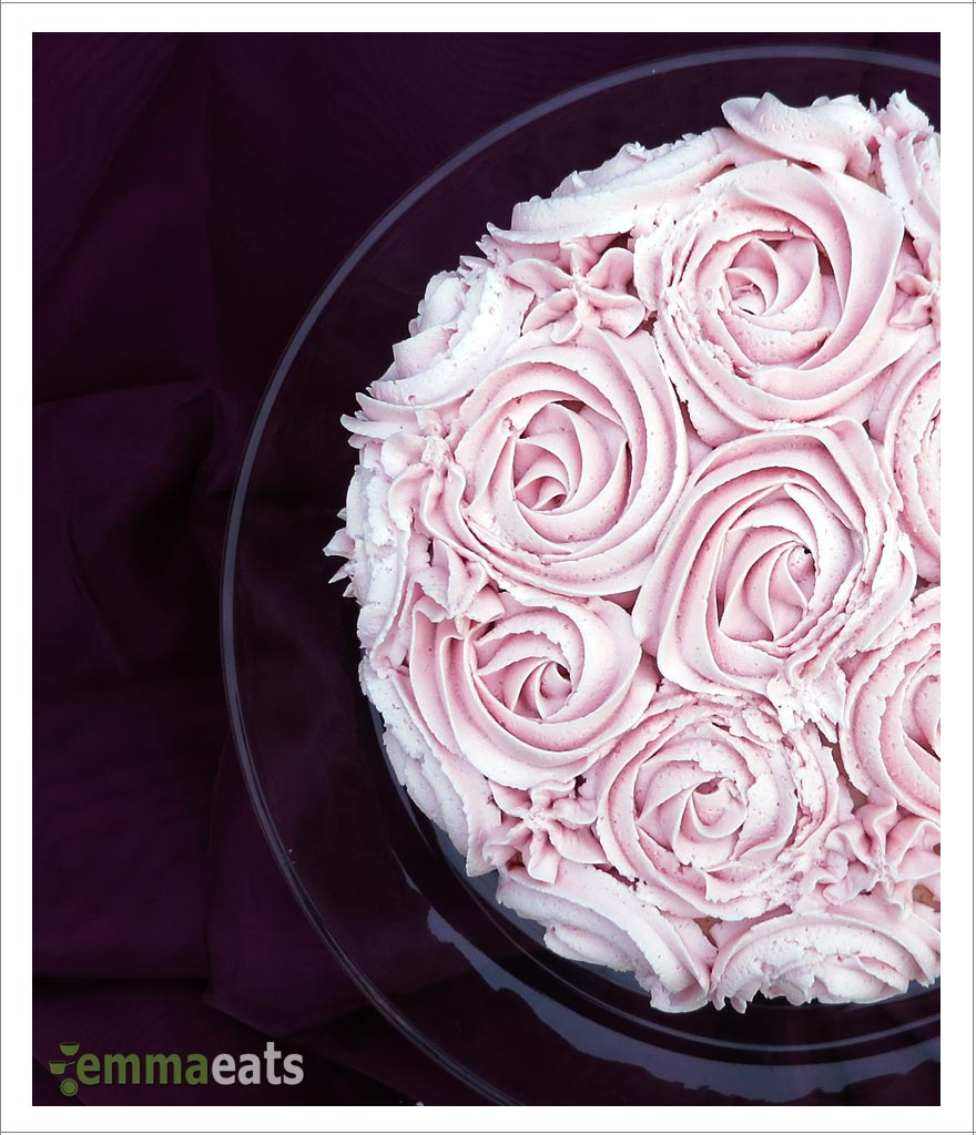 Dairy Free Vanilla Birthday Cake With Rose Ombre Frosting Emmaeats