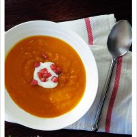 Sweet Potato and Carrot Soup, 2 ways