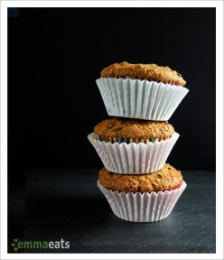 Dairy-free Dark Chocolate, Apricot and Granola Muffins