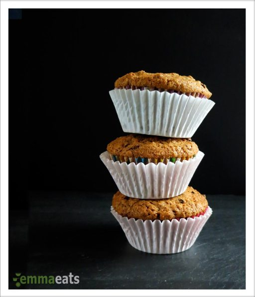 Dairy-free Dark Chocolate, Apricot and Granola Muffins | EmmaEats