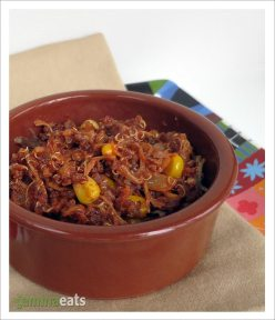 Mexican-Style Quinoa with Pulled Pork
