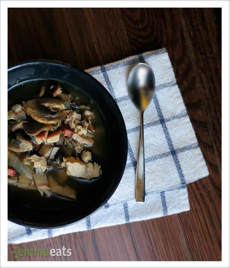 Roasted Turkey and Mushroom Soup