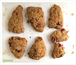 Vegan Strawberry Scones | EmmaEats