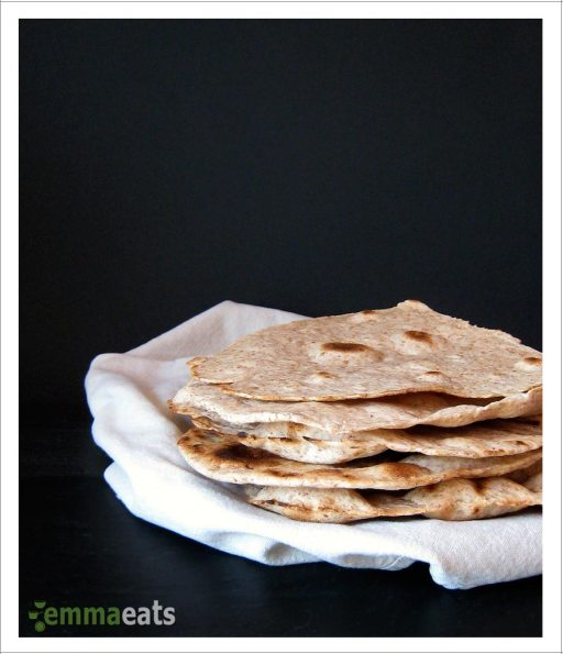 Whole Wheat Olive Oil Flatbreads | EmmaEats