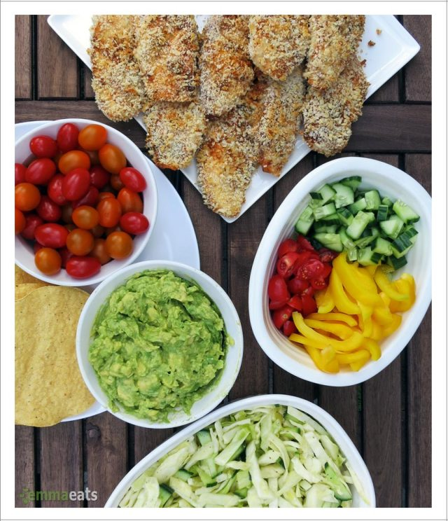 Crispy Fish Tacos w Zesty Avocado Dip and Coleslaw | EmmaEats...and Katie too!