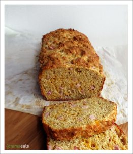 Ham and Cheddar Quickbread | EmmaEats