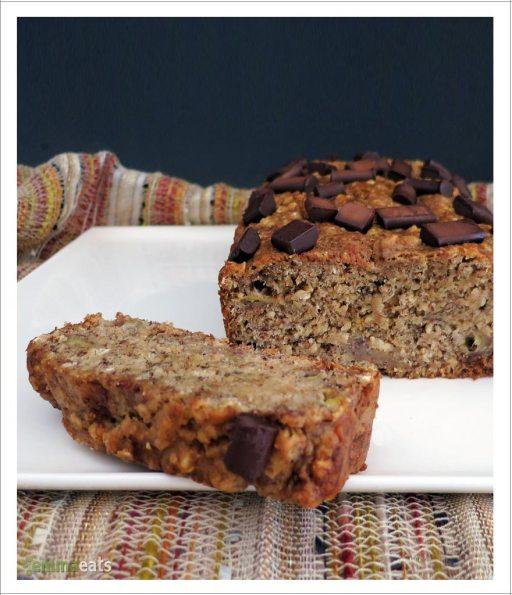 Oatmeal Spelt Banana Bread [Vegan] | EmmaEats
