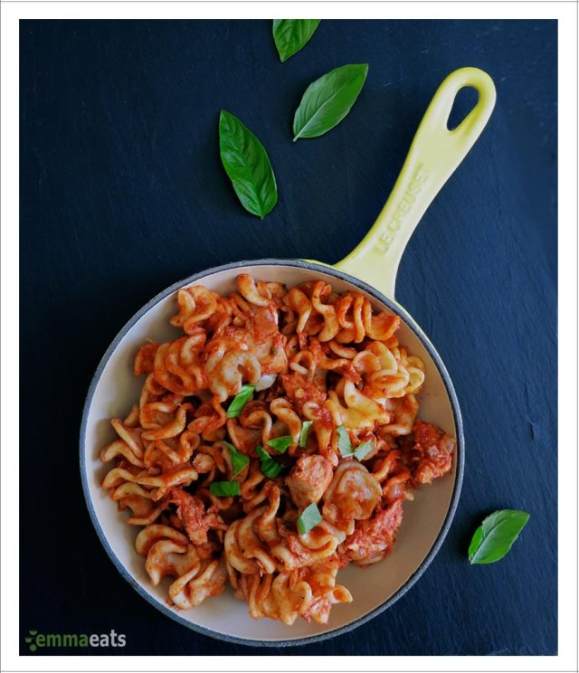 Pasta with Tuna, Garlic and Capers [Dairy-Free] | EmmaEats