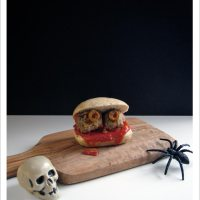 Spooky Mini Turkey Meatball Sliders