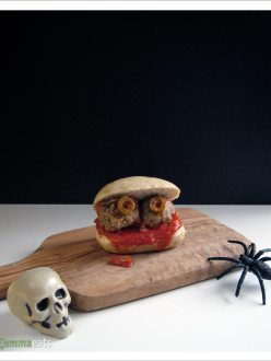 Spooky Mini Turkey Meatball Sliders | EmmaEats