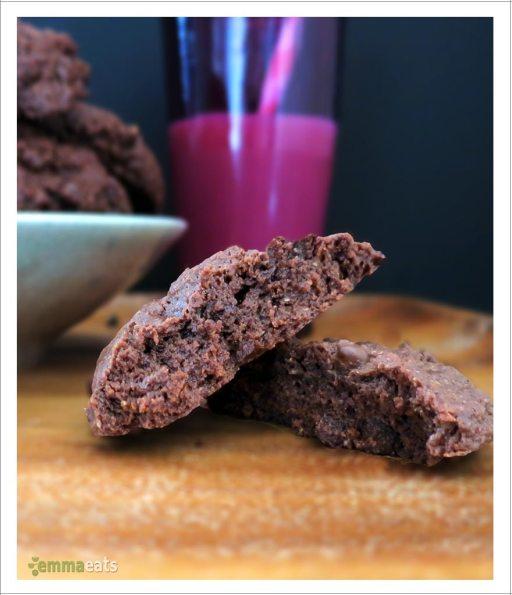 Chocolate Cake Cookies [Vegan] | EmmaEats