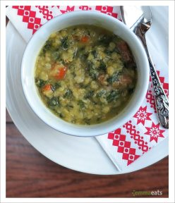 Spinach and Lentil Soup | EmmaEats