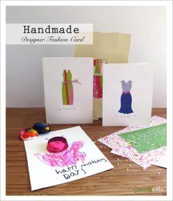 Handmade Designer Fashion Card | EmmaEats