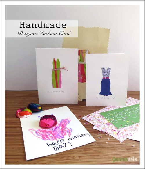 Handmade Designer Fashion Card | EmmaEats