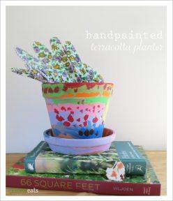 Handpainted Terracotta Planter | EmmaEats