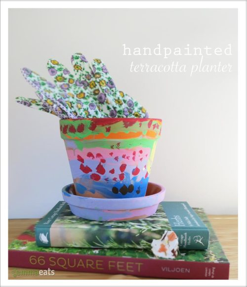 Handpainted Terracotta Planter | EmmaEats