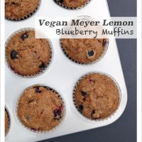 Meyer Lemon Blueberry Muffins, 2 ways