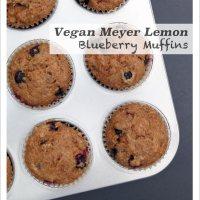 Meyer Lemon Blueberry Muffins, 2 ways