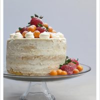 Nearly Naked Grapefruit Cake