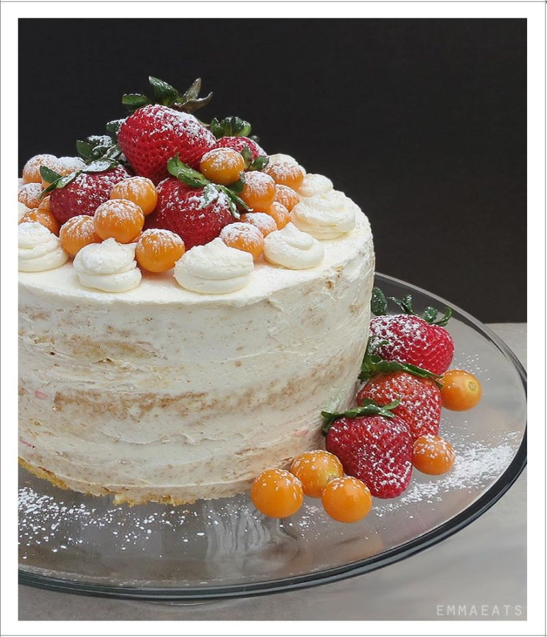 Nearly Naked Grapefruit Cake | EmmaEats